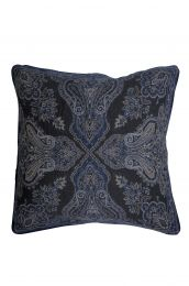 Jacquard woven cotton cushion cover - blue
