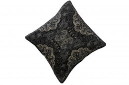 Jacquard woven cotton cushion cover - black