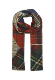 Checkered patchwork print colorful scarf