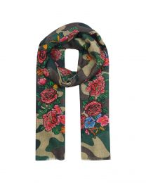 Camouflage with rose
