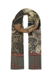 Check with paisley design mix in autumn colors