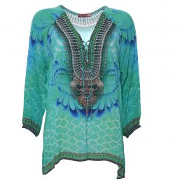 Aqua colored tunic