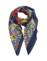 Classic scarf design with ornaments and paisleys