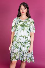 Viscose dress in batikprint