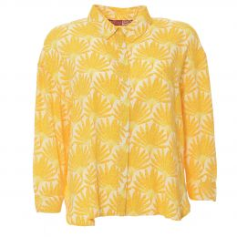 Blouse in yellow print
