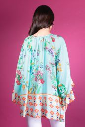 Wide tunic with flowers print