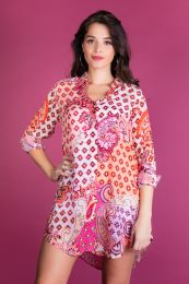 Shirtdress with paisleyprint