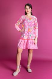 Frilled dress with  ornaments