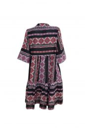Tiered dress with Ikat woven designs