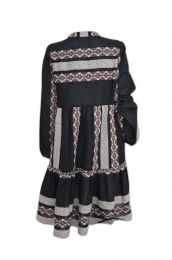 Tiered dress with Ikat woven design