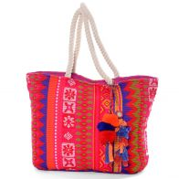 Handbag (shoulder bag) made of cotton-wool blend